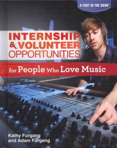 Internship & volunteer opportunities for people who love music Book cover